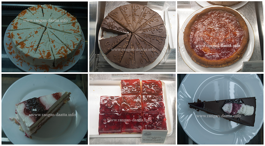 Assortment of Desserts at Samobor, Croatia