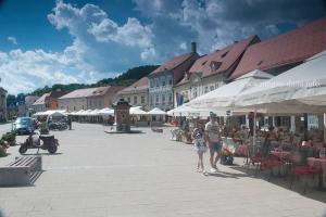 Cafes at the Kimg Tomislav Square, Samobor