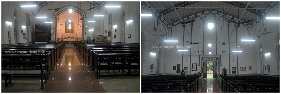 Interiors of the St. Stephen's Church, Kidderpore, Kolkata
