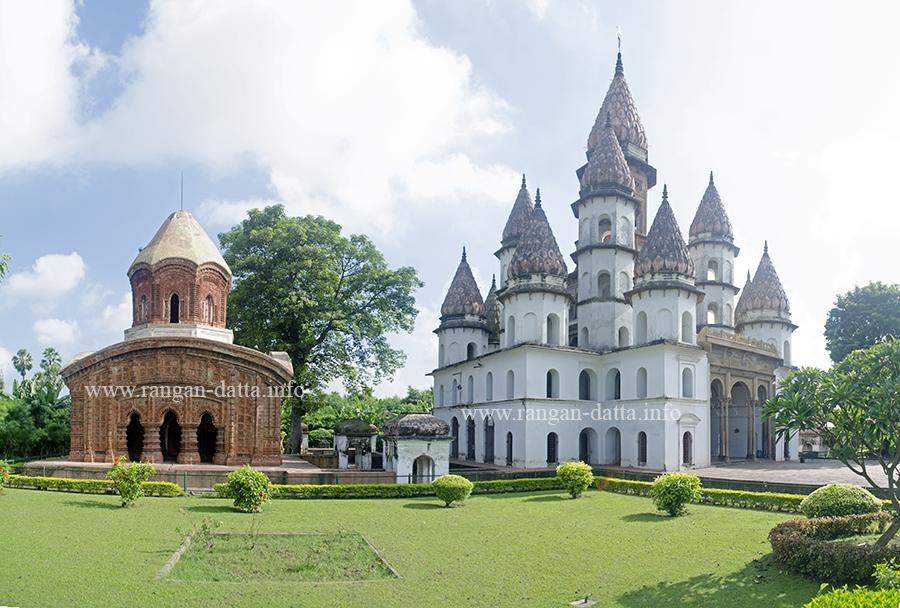 L: Ananta Basudev Temple & R: Hanseswari Temple, Bansberia, Hooghly