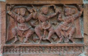 Dancers, Terracotta Panel, Ananta Basudev Temple