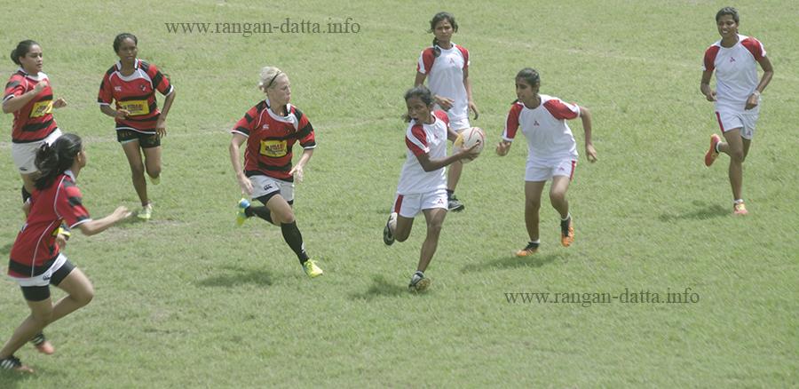 CCFC vs Bihar, All India Women's Rugby XVs Tournament 2016, CCFC, Kolkata