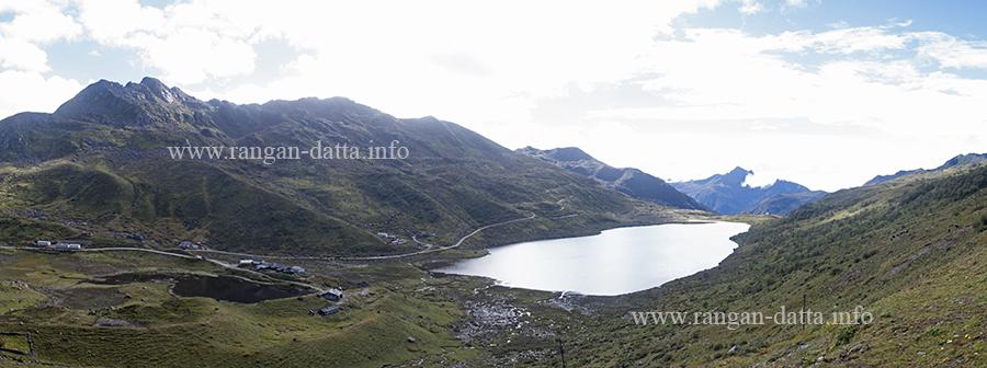Panoramic view of Kupup Lake, Sikkim Silk Route[