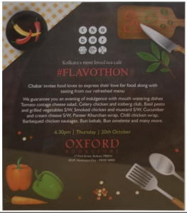 Flavothon, a food lovers meet at Cha Bar, Oxford Food store
