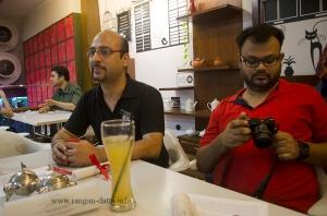 Nitin Warikoo (Head Cha Bar and Business Development) with fellow blogger Sumit Surai