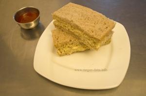 Smoked Chicken and Mustard English Tea Sandwich