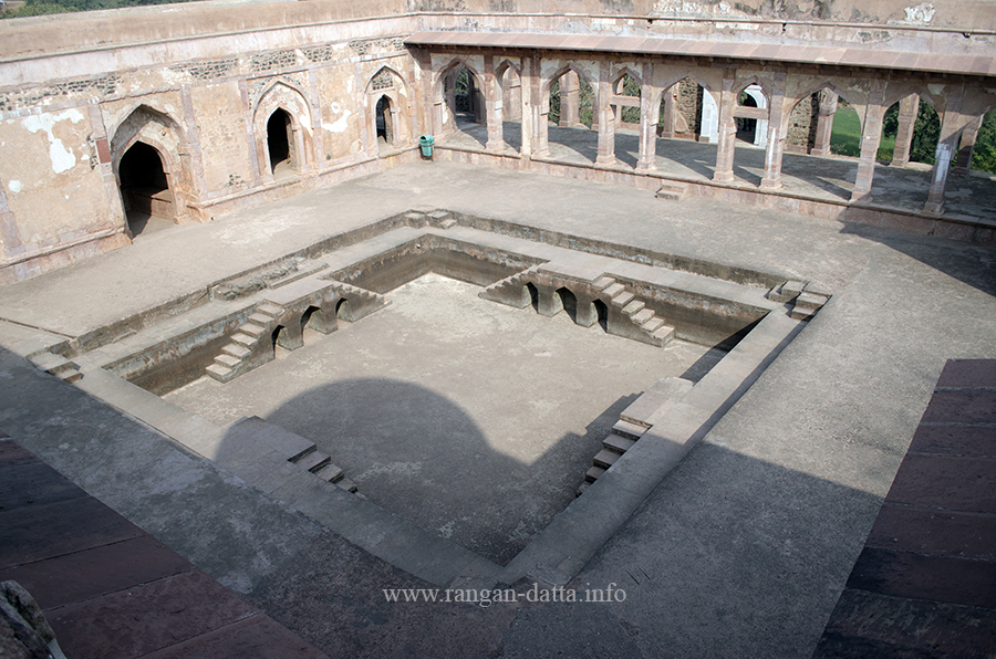 A swimming pool inside Baz Bahadur's Palace, Mandu, Madhya Pradesh (MP)