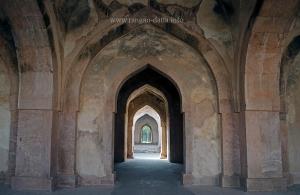 Arches of Baz Bahadur's Palace, Mandu