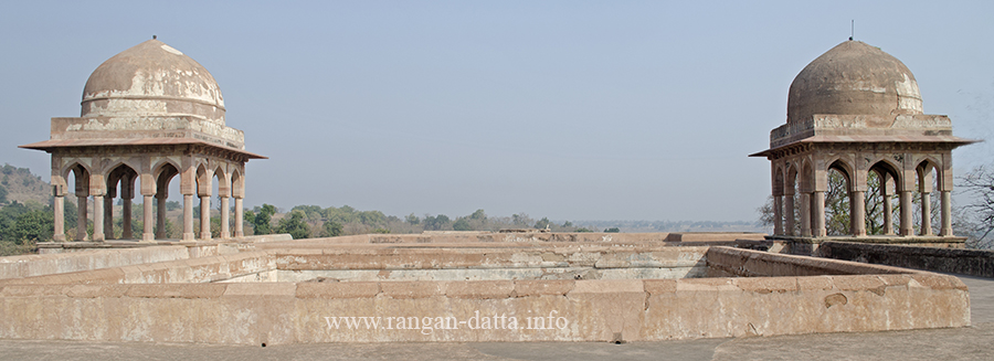The pavilions of Baz Bahadur Palace, Rewa Kund Group, Mandu, Madhya Pradesh (MP)