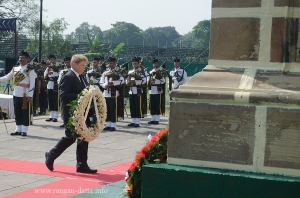 Ex British Diplomat, Paul Walsh in the Wreath Laying Ceremony