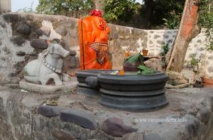 A small shrine, Rajwada, Maheshwar Fort, MP