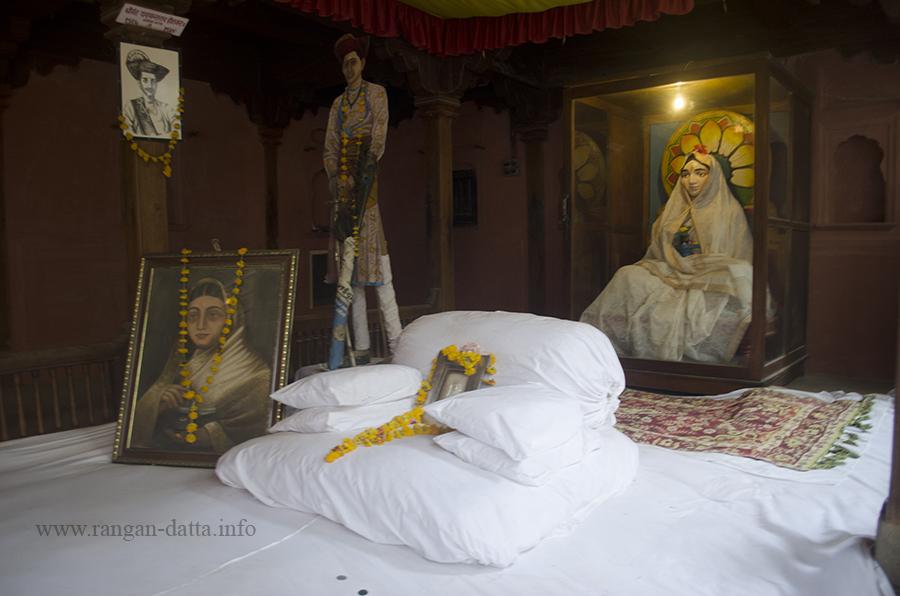 Throne of Ahilya Bai, Rajwada, Maheshwar Fort, Madhya Pradesh (MP)