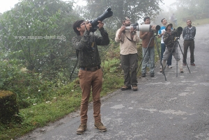 My fellow Birders at Lingtam, East Sikkim
