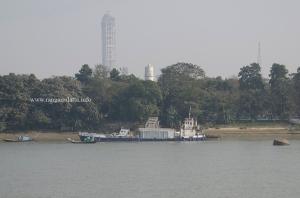 Semaphore tower or Ball Tower (White structure), Fort William, Kolkata
