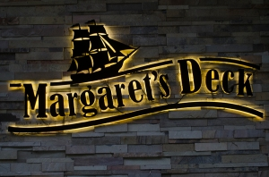 Margaret's Deck, glow sign