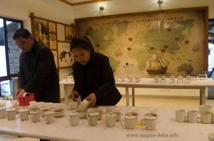 Preparation for Tea Tasting, Margaret's Deck, Kurseong