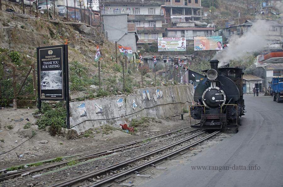 A Darjeeling Himalayan Railway (DHR) Toy Train Steam Engine, Kurseong