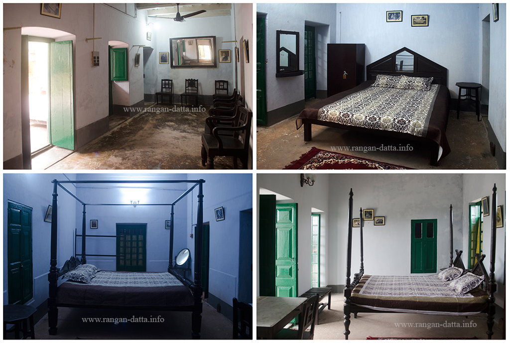 Interiors of Baithakkhana Amadpur, the lobby and three Bed rooms
