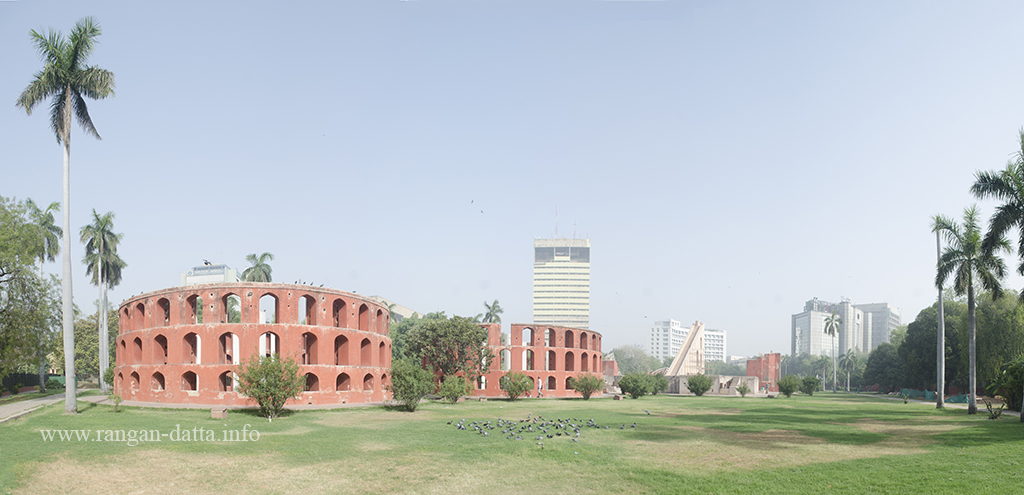 Panoramic view of Jantar Mantar Complex, Delhi