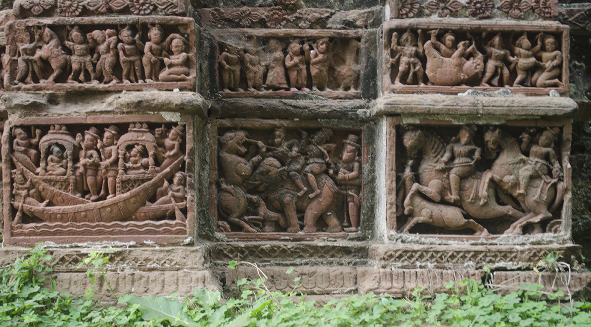Terracotta Panels from Nandi Family Temple, Amadpur
