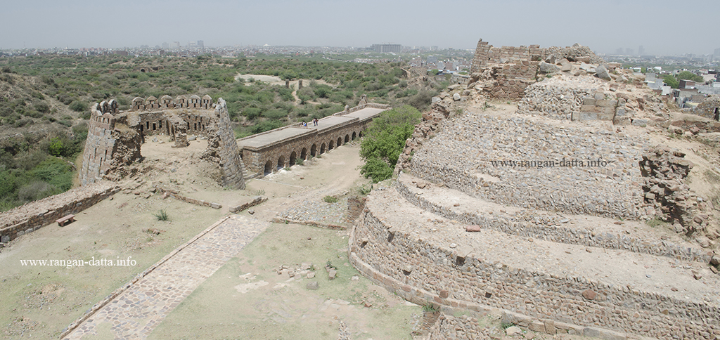 The bastions of Tuglaqabad, overlooking the city of Delhi