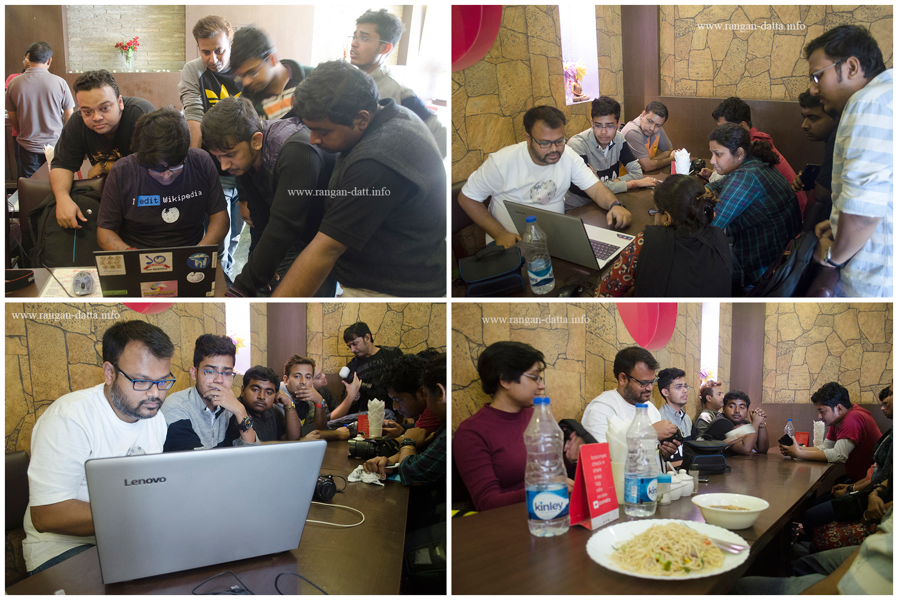 A brief training session, followed by lunch, marked the end of Wikipedia Takes Kolkata VI