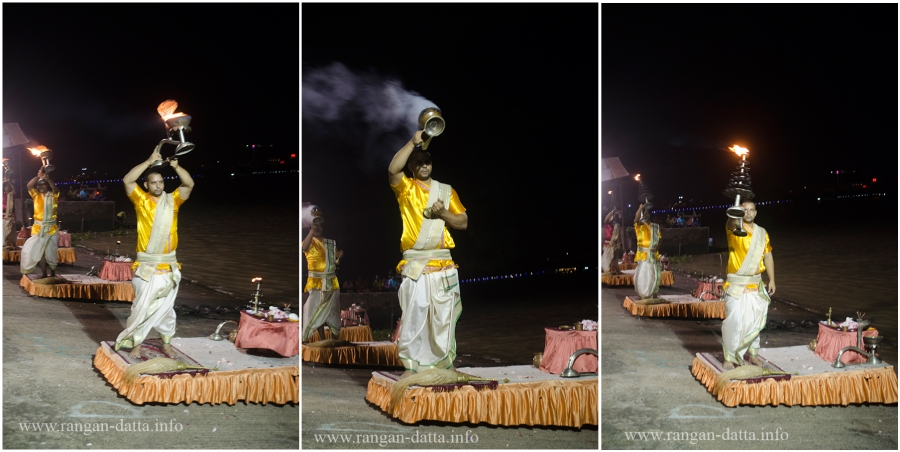 Ganga Aarti along River Hooghly, Ramkrishnpur Ghat, Howrah