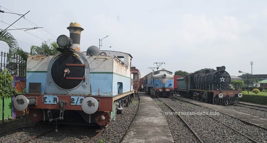 Assortment of locomotives at Rail Museum, Howrah
