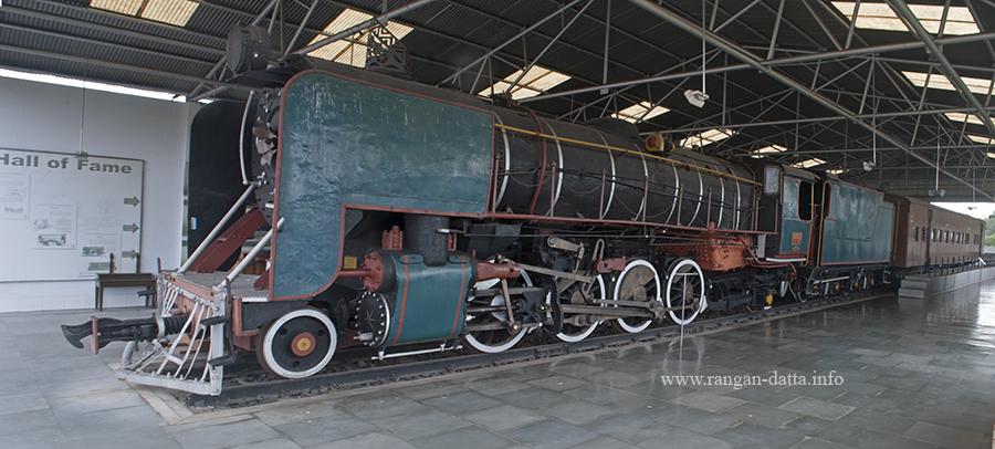 A meter gauge Steam Locomotive at Hall of Fame, Rail Museum, Howrah