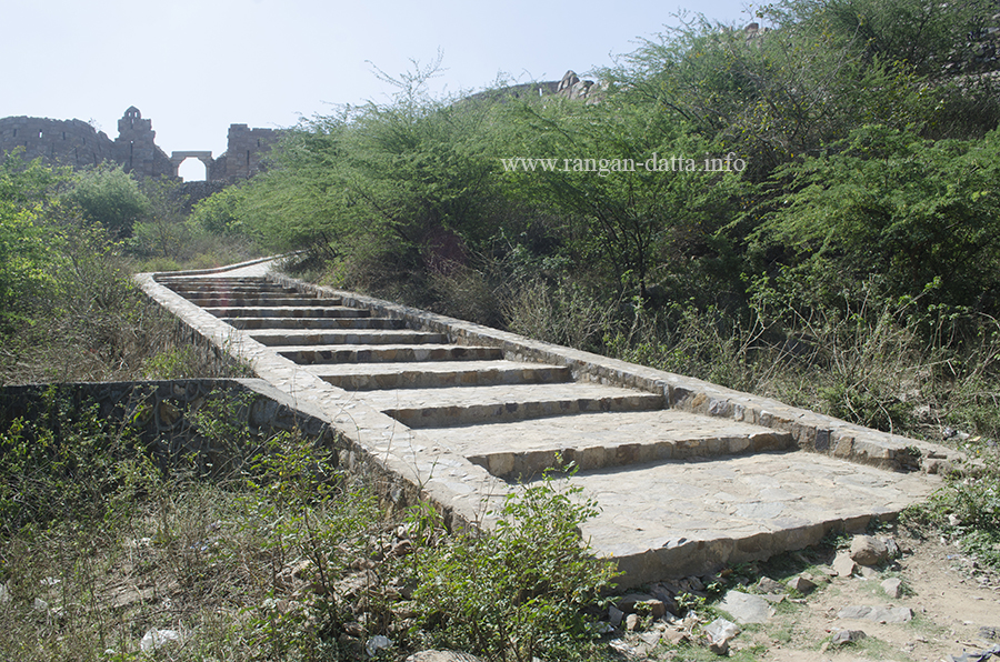 Steps leading to the Adilabad Fort, Delhi