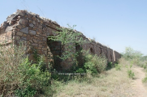 Walls of Adilabad Fort, Delhi