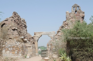South East gate of Adilabad from inside the fort