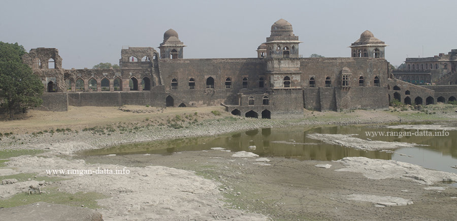 Western side of Jahaz Mahal from Jal Mahal, Mandu, Madhya Pradesh (MP)
