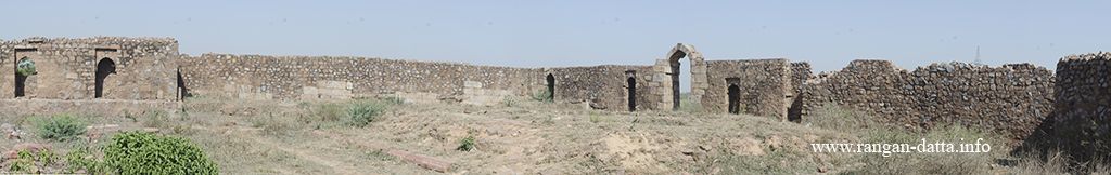 Panoramic views of the interior of Nai ka Kot, Delhi