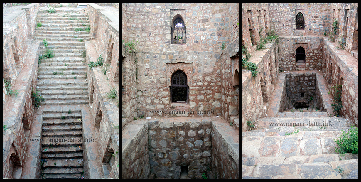 Different views of Dwarka Baoli (Loharheri Baoli), Delhi