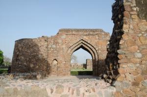 An arched gateway, Feroz Shah Kotla, Delhi