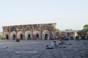 Namaz being offered at the Jami Masjid, Feroz Shah Kotla, Delhi