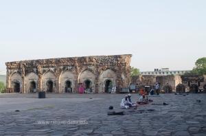 Namaz being offered at the Jami Masjid, Feroz Shah Kotla, Delhi