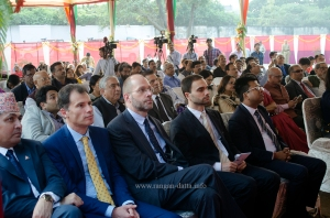 The audience consisted mainly of foreign diplomats