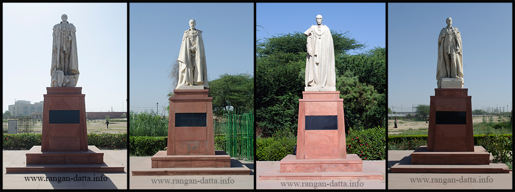 Viceroy statues of Coronation Park. L - R: Lord Hardinge, Lord Willingdon, Lord Irwin and Lord Chelmsford