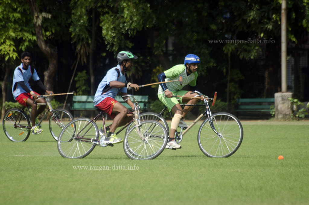 Chasing the ball, Cycle Polo, CC&FC, Kolkata