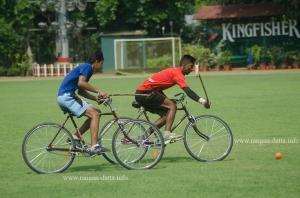 On he goes, Cycle Polo