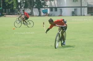 A back flip, Cycle Polo