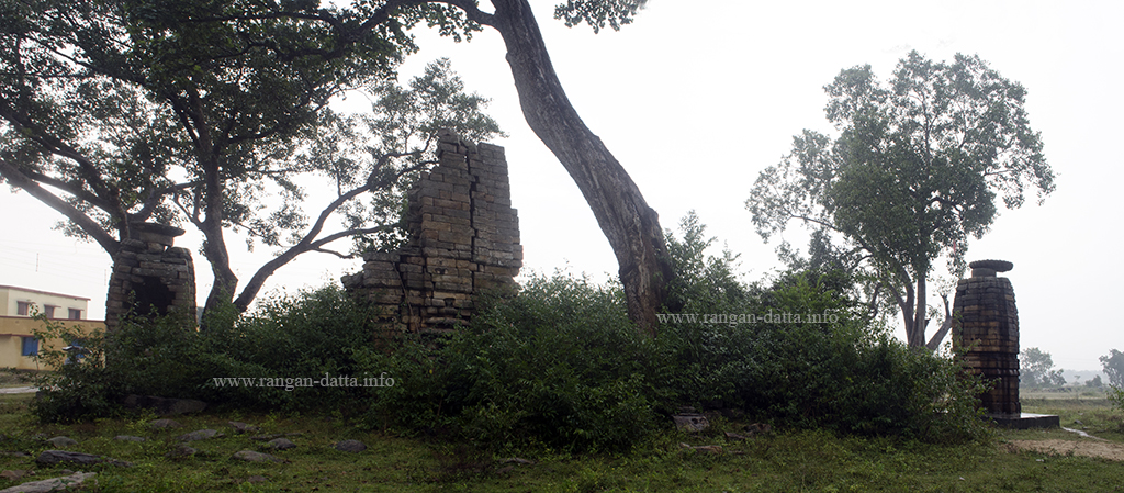 Panoramic view of the three Jain Temples of Deuli, Purulia District