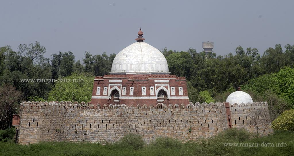 View of Ghiyas ud - Din Tughluq's Mausoleum from Adilabad Fort, Delhi