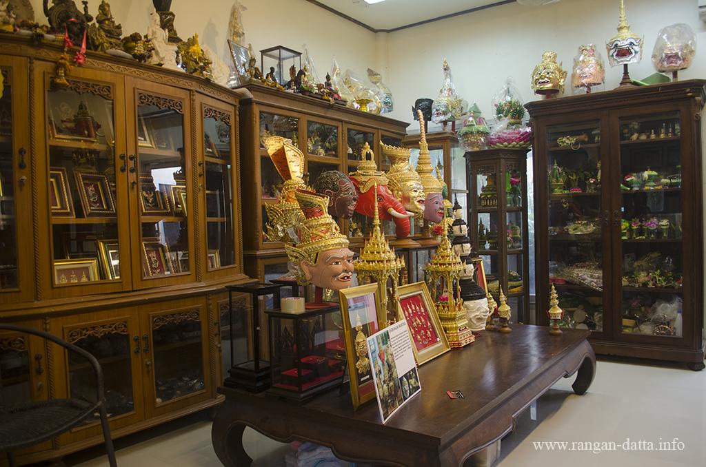 A Khon Mask studio at Bhutesavara, Samut Songkhram, Thailand