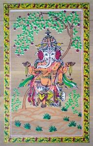 A bamboo mat painting, Raghurajpur