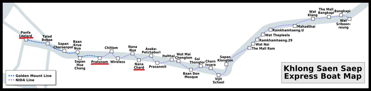 Map of Saen Saep Express Boat, Bangkok (Source: Wikimedia Commons) (Click to enlarge)