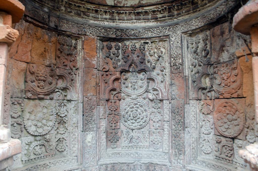 Terracotta ornamentation in Sayed Jamaluddin Mosque, Adi Saptagram