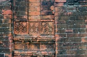 Floral and geometric designs in Sayed Jamaluddin's Mosque, Adi Saptagram